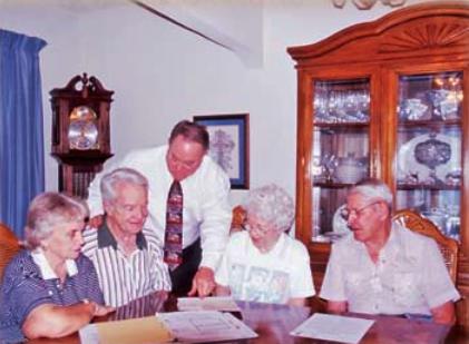 Bob Pender with clientele