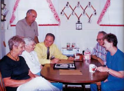 Bob Pender with clientele.